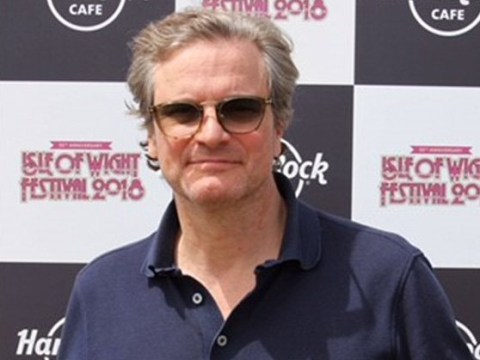 'Proud dad' Colin Firth mingles with the public as he watches son Luca rock out at Isle Of Wight Festival