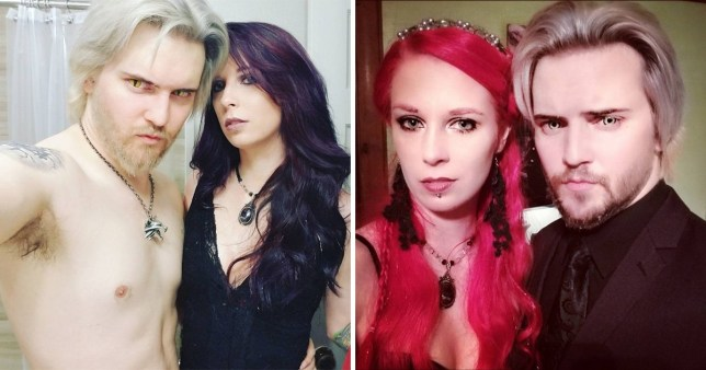 Polyamorous couple live as vampires, 'feeding' on blood and sexual