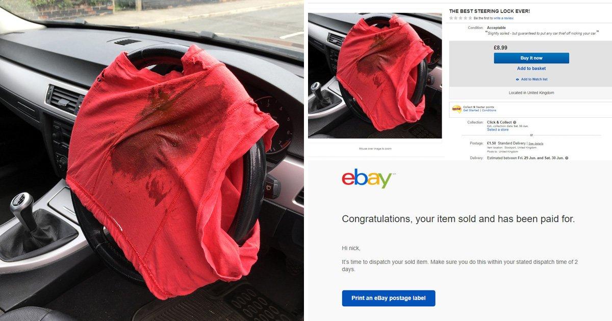 Prankster shocked as someone buys his dirty underwear off eBay
