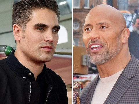 The Rock schools Busted's Charlie Simpson after he slams the Jumanji franchise with 'worst film of all time' tag