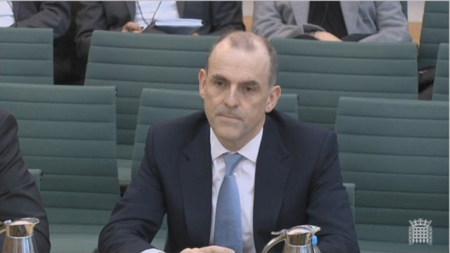 TSB chief executive Paul Pester today apologised to customers for his company's IT meltdown 06/06/2018 TSB CEO Paul Pester appearing in front of the Commons Select Commitee headed by Nicky Morgan Parliament TV