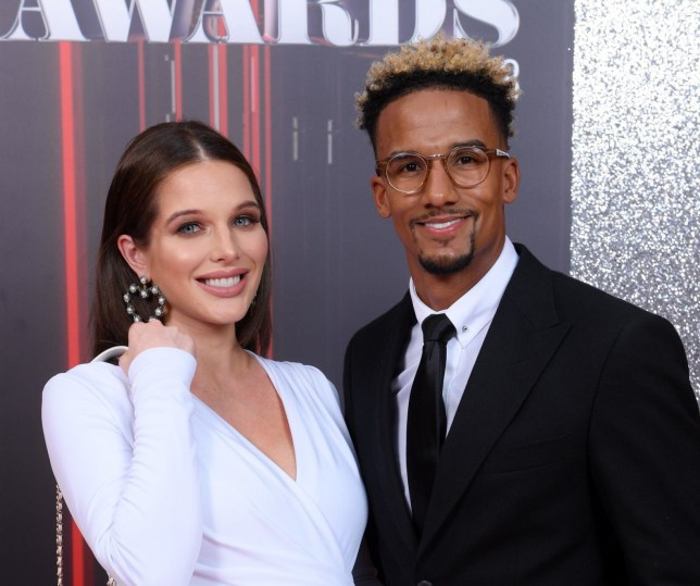 Mandatory Credit: Photo by David Fisher/REX/Shutterstock (9698543bf) Helen Flanagan and Scott Sinclair British Soap Awards, Arrivals, Hackney Empire, London, UK - 02 Jun 2018