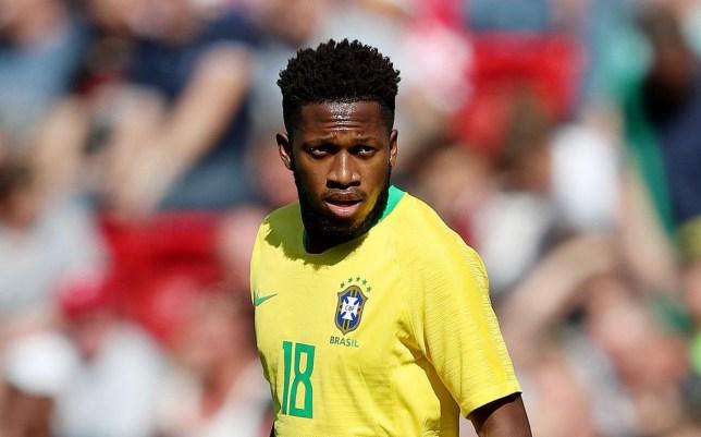 Mandatory Credit: Photo by Paul Greenwood/BPI/REX/Shutterstock (9699676aj) Fred of Brazil Brazil v Croatia, International Friendly, Anfield, Liverpool, UK, 3 June 2018