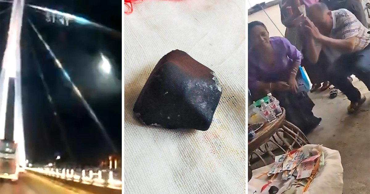 Villagers worship meteorite after it crashes down to Earth