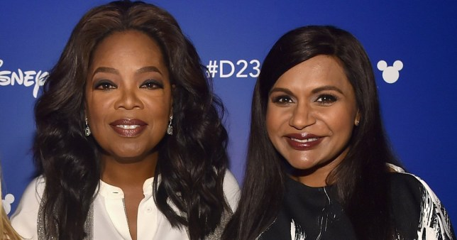 ANAHEIM, CA - JULY 15: (L-R) Actors Reese Witherspoon, Oprah Winfrey and Mindy Kaling of A WRINKLE IN TIME took part today in the Walt Disney Studios live action presentation at Disney's D23 EXPO 2017 in Anaheim, Calif. A WRINKLE IN TIME will be released in U.S. theaters on March 9, 2018. (Photo by Alberto E. Rodriguez/Getty Images for Disney)