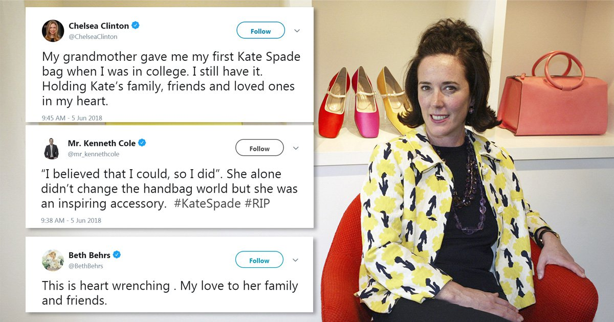 Fashion and celebrity world reacts to designer Kate Spade's death