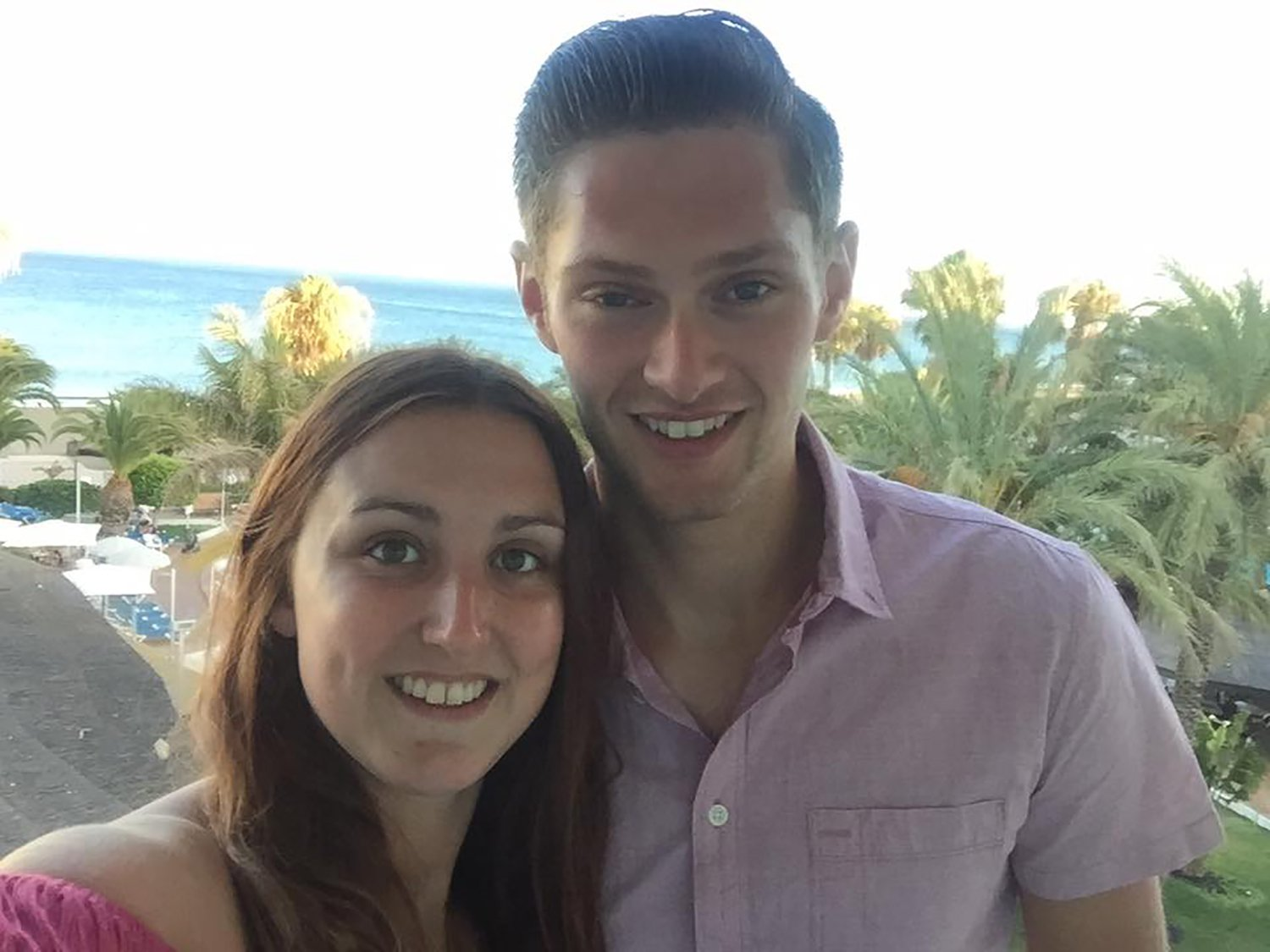Mountain biker Ryan Bullimore, 23, who was killed on Tuesday evening (05.06.18) when he hit a tree on a trail he helped to design and build at Tirpentwys trails near Pontypool in South Wales. Pictured is Ryan with his girlfriend Ceri Edmunds. Picture use with permission of the Bullimore family.