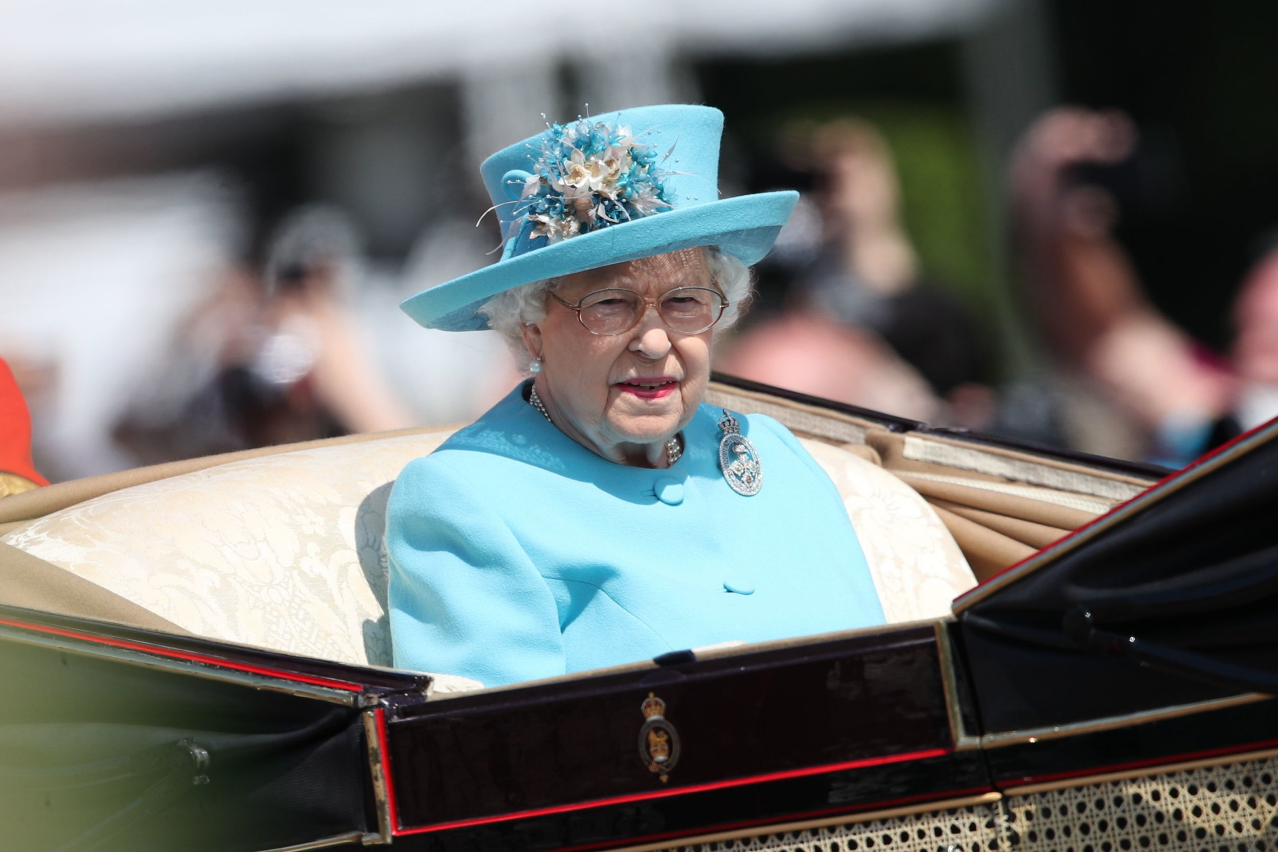 Queen Elizabeth II on the way to Horse Guards Parade, ahead of the Trooping the Colour ceremony, as she celebrates her official birthday. PRESS ASSOCIATION Photo. Picture date: Saturday June 9, 2018. See PA story ROYAL Trooping. Photo credit should read: Yui Mok/PA Wire