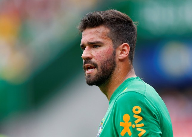 Soccer Football - International Friendly - Austria vs Brazil - Ernst-Happel-Stadion, Vienna, Austria - June 10, 2018 Brazil's Alisson during the warm up before the match REUTERS/Leonhard Foeger