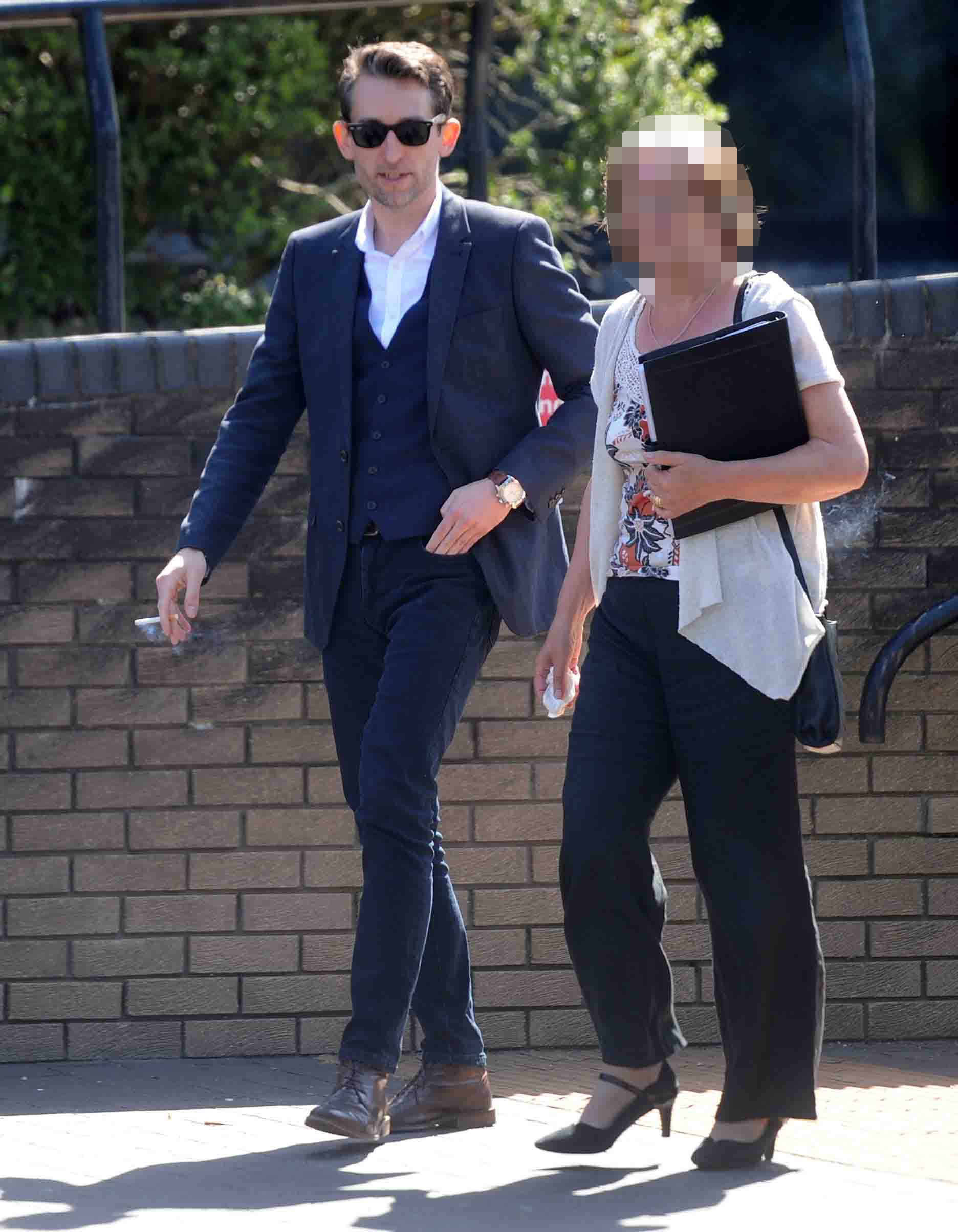 A woman being stalked by her ex-partner awoke to find him standing at the foot of her bed, a court heard. James Robert Pitchers, 36, used an app to track his former partner?s movements, visited her place of work and sent her numerous text messages between February and May this year. The campaign of harassment began following the end of the couple?s 13-year relationship, Teesside Magistrates Court was told. In the incident in February, Pitcher?s ex-partner awoke at 7am and found him standing at the foot of her bed. Teesside magistrates court, Middlesbrough. Suit man is James Robert Pitchers, 36, of Stockton, admitted stalking his ex-partner.