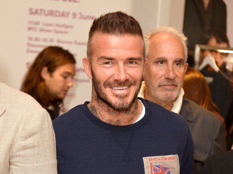David Beckham has a right old laugh after rubbishing divorce rumours