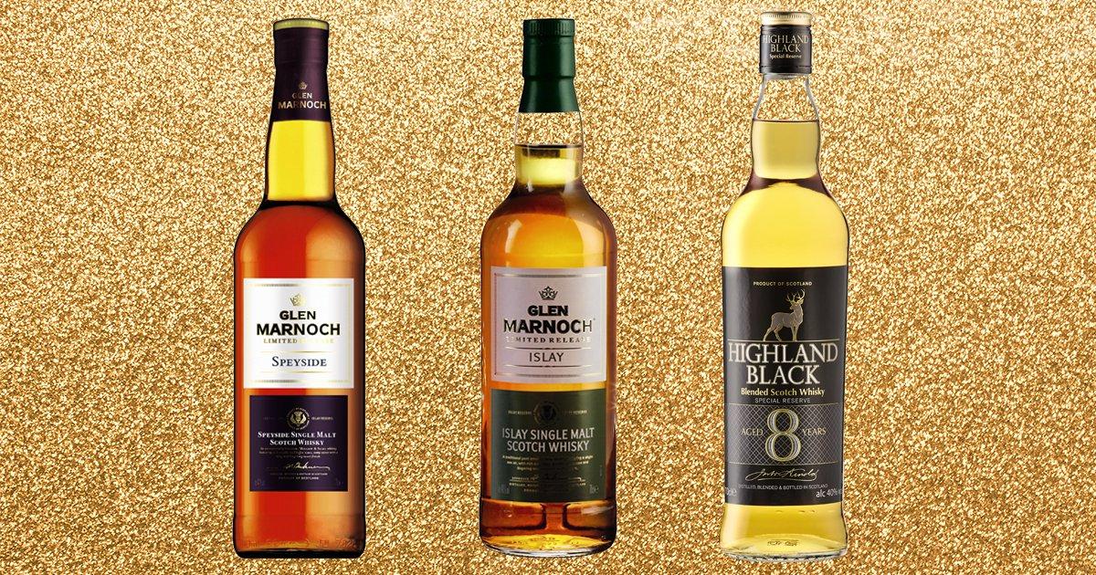 Glen Marnoch Islay Single Malt Whisky Glen Marnoch Speyside Single Malt Whisky Highland Black 8 Year Old Scotch Whisky Credit: Aldi