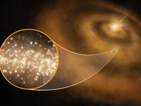 Clouds of diamonds around distant stars producing mysterious signals