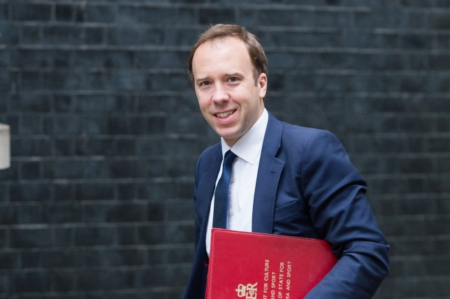 LONDON, UNITED KINGDOM - JUNE 12: Secretary of State for Digital, Culture, Media and Sport Matt Hancock arrives for a weekly cabinet meeting at 10 Downing Street in central London. June 12, 2018 in London, England.PHOTOGRAPH BY Wiktor Szymanowicz / Barcroft Images