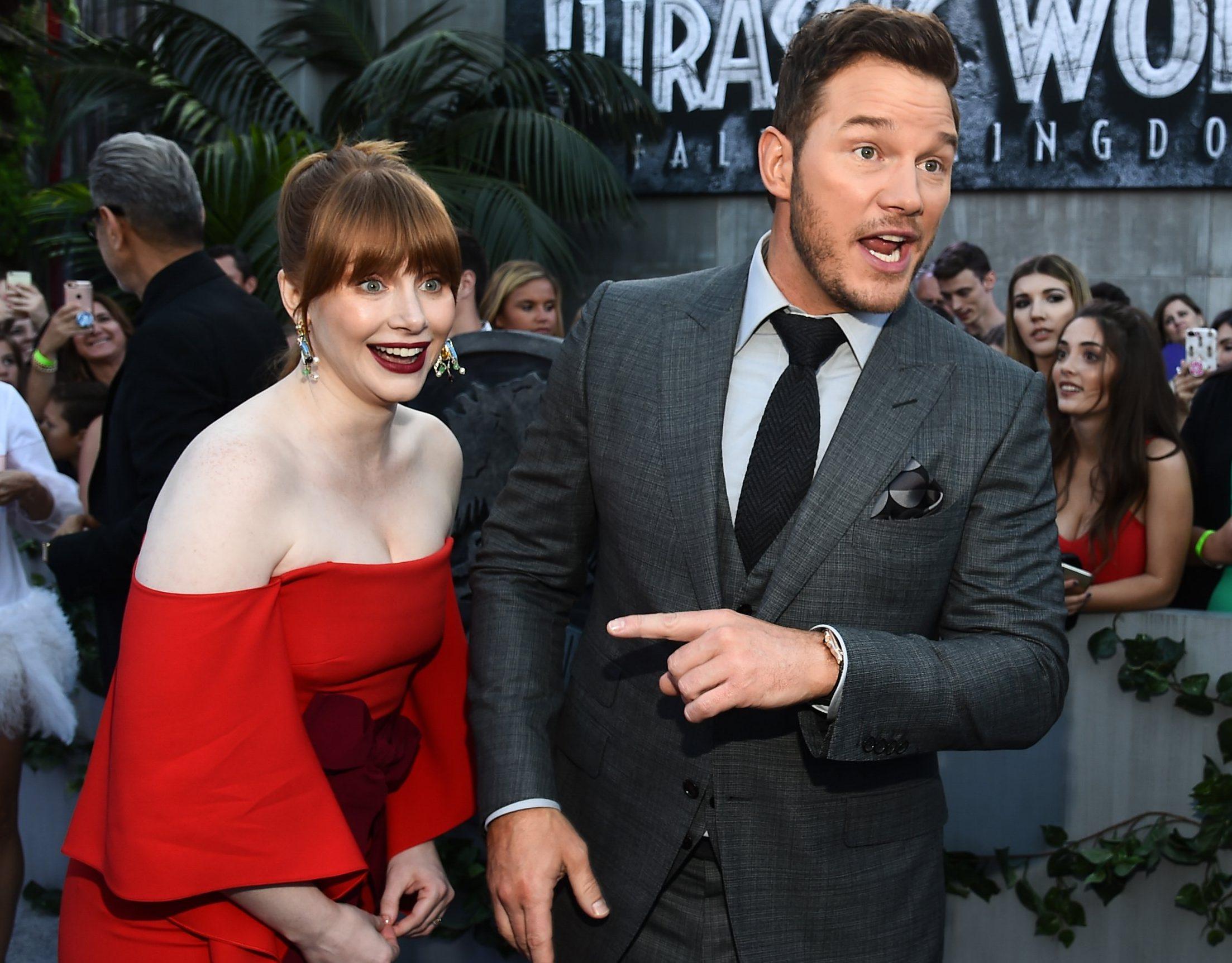 Chris Pratt and Bryce Dallas Howard celebrate as Jurassic World: Fallen Kingdom sells 4 million tickets in Korea