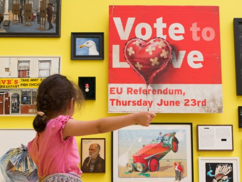 This Brexit artwork was rejected by the Royal Academy until Banksy put his name to it