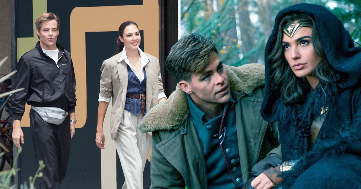 Chris Pine and Gal Gadot shine in Wonder Woman 2 first look pictures after shock Steve Trevor return