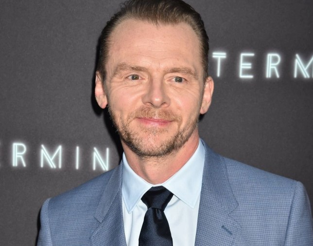 Mandatory Credit: Photo by John Milne/Silverhub/REX/Shutterstock (9666539m) Simon Pegg 'Terminal' film premiere, Arrivals, Los Angeles, USA - 08 May 2018