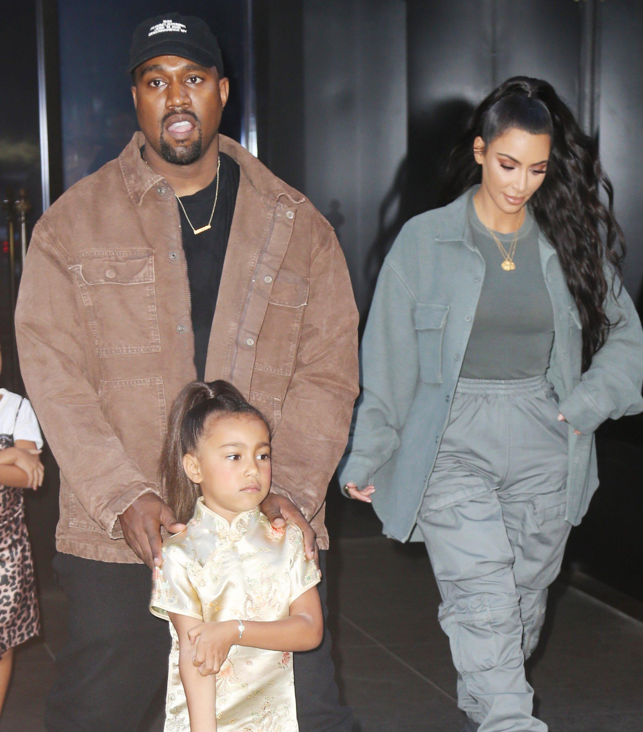 Kanye West wife Kim Kardashian with North West together in New York. 15 Jun 2018 Pictured: Kim Kardashian, Kanye West, North West. Photo credit: TPG/MEGA TheMegaAgency.com +1 888 505 6342