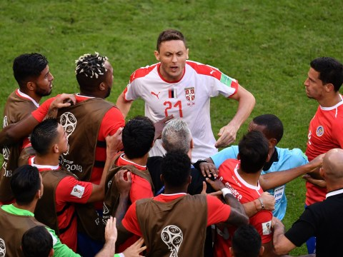 Nemanja Matic told to 'f**k off' by Costa Rica star as Manchester United midfielder sparks mass brawl