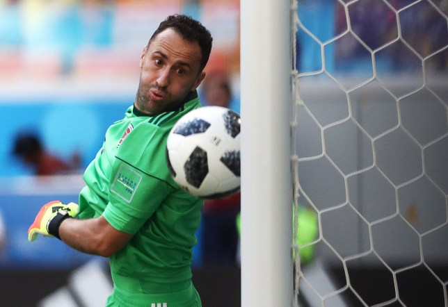 SARANSK, RUSSIA - JUNE 19, 2018: Colombia's goalkeeper David Ospina concedes a goal in their 2018 FIFA World Cup Group H Round 1 match against Japan at Mordovia Arena Stadium in Saransk. Stanislav Krasilnikov/TASS (Photo by Stanislav Krasilnikov\TASS via Getty Images)