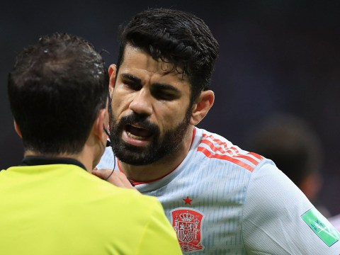 Diego Costa gets angry in post-match interview after Spain beat Iran