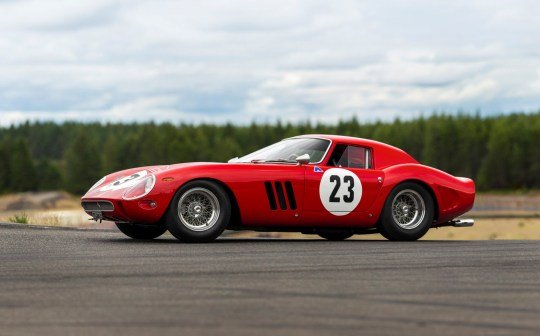 A 1962 Ferrari 250 GTO road racing car is shown in this image released by RM Sotheby???s in Blenheim, Ontario, Canada, on June 20, 2018. Courtesy Patrick Ernzen/RM Sotheby's/Handout via REUTERS ATTENTION EDITORS - THIS IMAGE HAS BEEN SUPPLIED BY A THIRD PARTY. NO RESALES. NO ARCHIVES