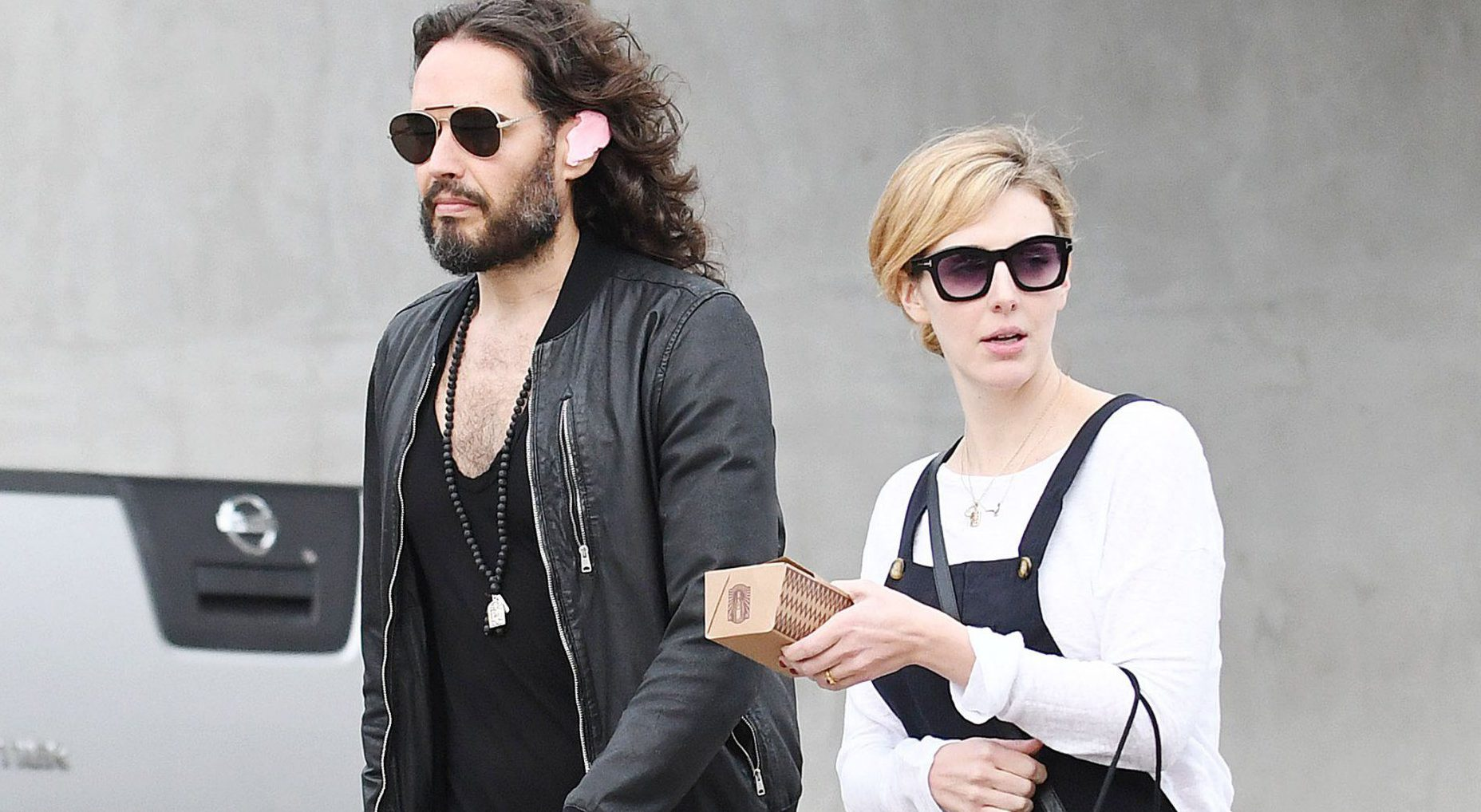 Russell Brand to become a dad for second time 'any day now'