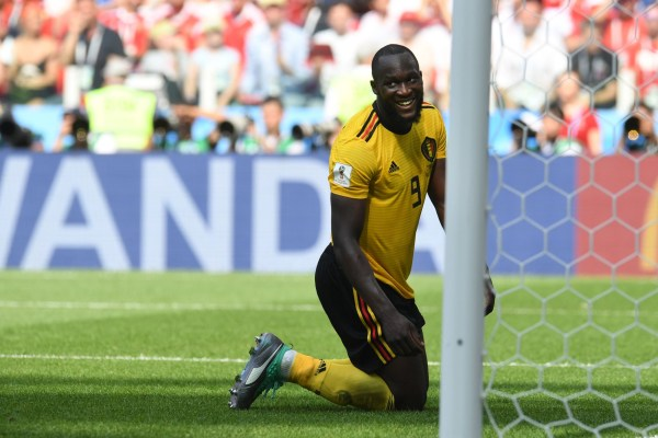 Belgium's forward Romelu Lukaku reacts following a miss during the Russia 2018 World Cup Group G football match between Belgium and Tunisia at the Spartak Stadium in Moscow on June 23, 2018. / AFP PHOTO / Patrik STOLLARZ / RESTRICTED TO EDITORIAL USE - NO MOBILE PUSH ALERTS/DOWNLOADSPATRIK STOLLARZ/AFP/Getty Images