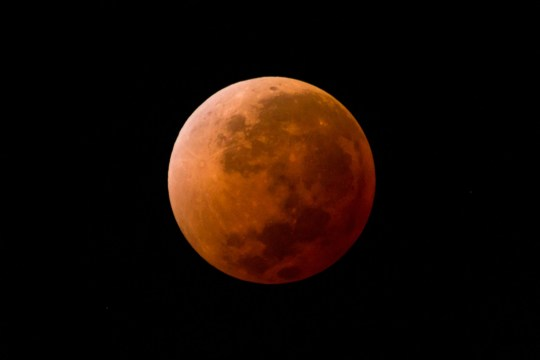 "This full lunar eclipse took place in April 2014.Lunar eclipse so-called ""blood moon"". This image (6 of 7) was taken in Montevideo, Uruguay, date time: 2014-04-15, 05:11."