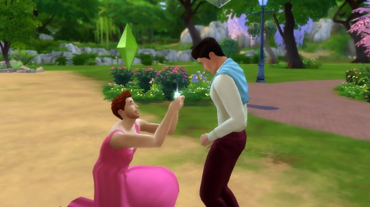 """Pics shows: Screen of 'The Sims' with same-sex relationships; The Sims has been banned in China and several Middle Eastern countries apparently because it allows same-sex relationships and marriages. The game developer informed fans in an online posting that it would no longer be available in seven countries because of a conflict with what it described as """"regional standards"""". The plan which will come into place from 5th July will mean it is no longer available in China as well as Saudi Arabia, the United Arab Emirates, Oman, Kuwait, Qatar, and Egypt. The developer did not specify what the regional standards were, but online users were quick to confirm that it was because of an ongoing row about the fact that The Sims??? allows gay relationships. The basic principle of the game is allowing users to create a virtual personality who lives in the virtual world, effectively a simulation of the real world. They can do all the things in the virtual world which they want to watch as well as building a house, and getting a job, also involves finding a partner. And as far as the developers are concerned, that includes gay relationships. They said the only by having a broad spectrum of users they have a truly diverse simulated world. In a statement spokesman for the developer said: """"We???ve always been proud that our in-game experiences embrace values as broad and diverse as our incredible Sims community. This has been important to us, as we know it is to you."""" The app is being removed from app stores in China, and although those who have already downloaded it will be able to continue to use it, they will not be able to do updates or purchase anything in the future. Although it is not a crime to be homosexual in China, there are strong rules on any gay content which is banned on Chinese TV and online publications. Social media bans have been less successful, with the recently imposed restriction on gay references on Weibo quickly overturned and there was a massive"""