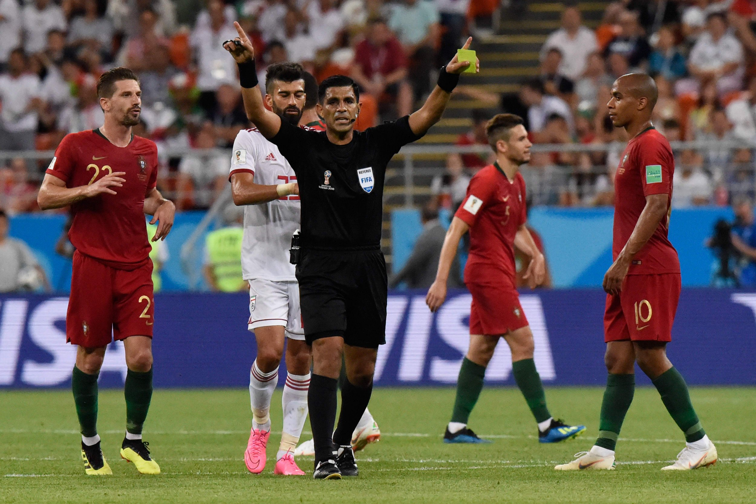 Portugal qualify ahead of Iran in VAR drama as Iago Aspas seals top spot for Spain