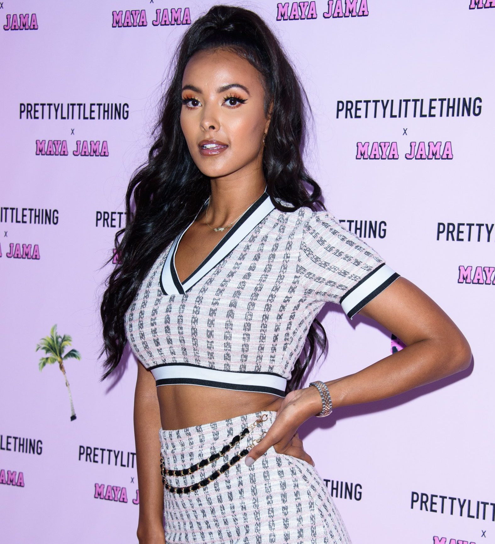 LONDON, ENGLAND - JUNE 25: Maya Jama attends the PrettyLittleThing x Maya Jama Launch Party at MNKY HSE on June 25, 2018 in London, England. (Photo by Joe Maher/Getty Images)