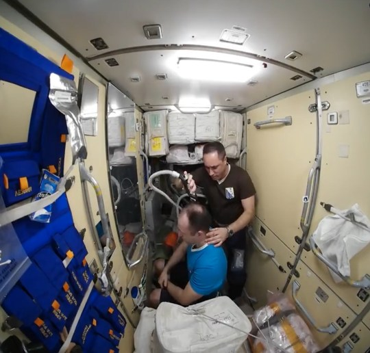 "Pic shows: The astronaut getting his hair cut The Russian space agency has shared a video showing an astronaut having a haircut on the International Space Station using a special device. Flight engineer Anton Shkaplerov, 46, was filmed giving Expedition Commander Alexander Misurkin, 40, a trim on board the International Space Station (ISS). He used a special hair-clipping device which also features a vacuum to avoid polluting the space station environment with hair clippings. The video, released by Roscosmos - The Russian equivalent of NASA, begins with Misurkin telling Shkaplerov exactly how he wants his hair cutting. Shkaplerov then quickly and efficiently trims his hair - presumably without asking where Misurkin is holidaying this year - before his subject stands to admire the results in a mirror. Another astronaut, US spaceman Joseph M Acaba, 51, was so impressed that he then reportedly offered Shkaplerov 3 USD (2.25 GBP) to cut his hair as well. The video, filmed during the International Space Station's Expedition 54, is proving popular with online viewers. Impressed Russian netizen ???Tuzik Dvoroviy??? commented: ""Our folks know how to make money everywhere, even in space."" Shkaplerov and Misurkin set a record for the longest Russian spacewalk during Expedition 54 when they spent 8 hours 13 minutes outside the ISS to repace an old electronics box. As well as serving as the flight engineer of Expedition 54, Shkaplerov will serve as commander of Expedition 55. Roscosmos is a state corporation responsible for the space flight and cosmonautics program for the Russian Federation."