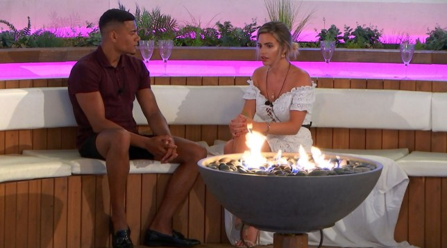 Editorial Use Only. No Merchandising. No Commercial Use. Mandatory Credit: Photo by ITV/REX/Shutterstock (9727785g) Wes Nelson talks to Megan Barton Hanson 'Love Island' TV Show, Series 4, Episode 23, Majorca, Spain - 26 Jun 2018