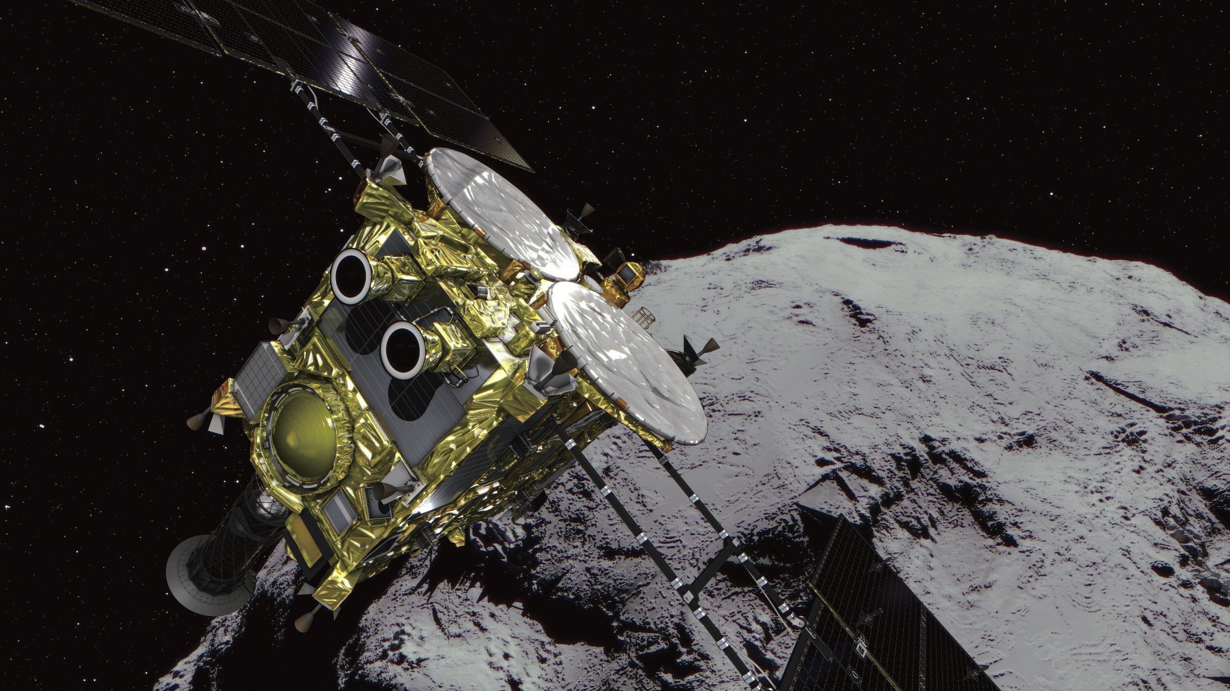 Japanese space probe arrives at asteroid and prepares to start blowing it up