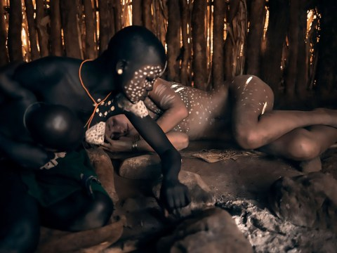 Model poses nude with Ethiopian tribe after allegedly going to jail for photoshoot in Egypt