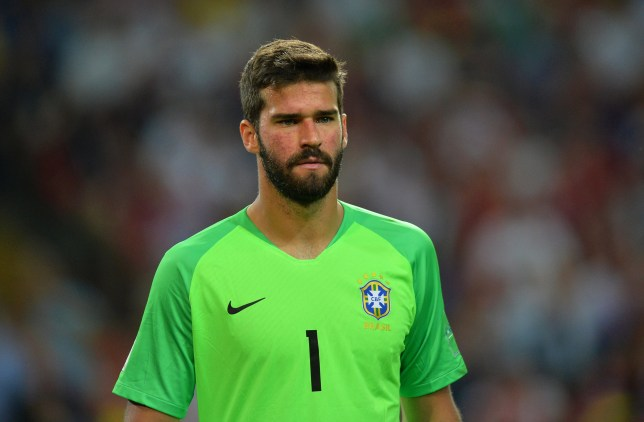 epa06845789 Brazil's goalkeeper Alisson reacts during the FIFA World Cup 2018 group E preliminary round soccer match between Serbia and Brazil in Moscow, Russia, 27 June 2018. Brazil won 2-0. (RESTRICTIONS APPLY: Editorial Use Only, not used in association with any commercial entity - Images must not be used in any form of alert service or push service of any kind including via mobile alert services, downloads to mobile devices or MMS messaging - Images must appear as still images and must not emulate match action video footage - No alteration is made to, and no text or image is superimposed over, any published image which: (a) intentionally obscures or removes a sponsor identification image; or (b) adds or overlays the commercial identification of any third party which is not officially associated with the FIFA World Cup) EPA/PETER POWELL EDITORIAL USE ONLY