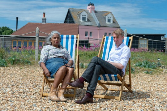 """Nigel and Sheila Jacklin who have been issued with a Community Protection warning, that does not allow them to even look at their neighbours home. See Masons copy MNLOOK: A couple are threatening to take a police force to court after being banned from LOOKING at their neighbours' house from a beach where they have walked for 26 years. Nigel Jacklin, 55, and wife Sheila were handed a letter from Sussex Police accusing them of """"harassing"""" neighbours near their ??500,000 five-bedroom home by the beach, and warned they could be prosecuted if they didn't stop. The prohibition came after five years of alleged problems with clinical psychologist Stephane Duckett and Norinne Betjemann, who bought a ??400,000 workshop opposite the couple and converted it into a weekend home."""