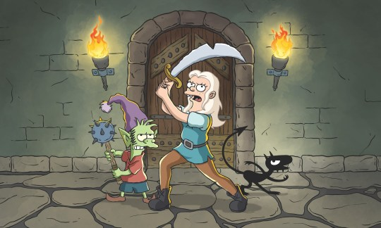 Matt Groening's new adult animated comedy fantasy series Disenchantment is here. (Netflix)