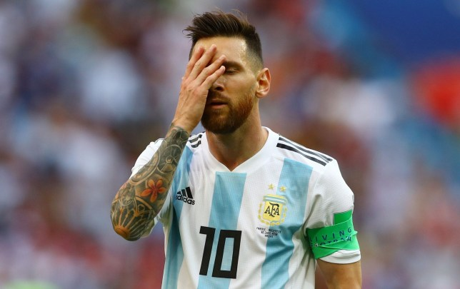 Mandatory Credit: Photo by Kieran McManus/BPI/REX/Shutterstock (9731474fp) Lionel Messi of Argentina looks dejected France v Argentina, Round of 16, 2018 FIFA World Cup football match, Kazan Arena, Russia - 30 Jun 2018