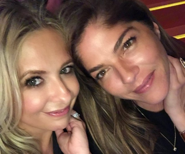 Sarah Michelle Gellar and Selma Blair reunited at a Pink concert (Picture: Twitter)