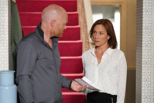 Rainie and Max argue over the drugs in EastEnders