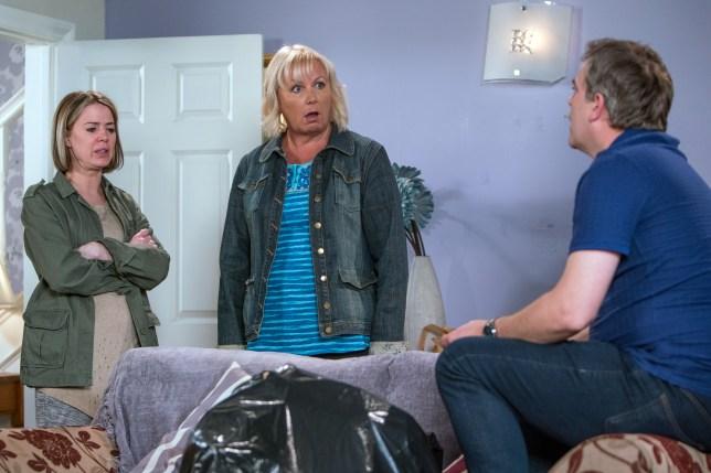 Eileen is shocked in Coronation Street