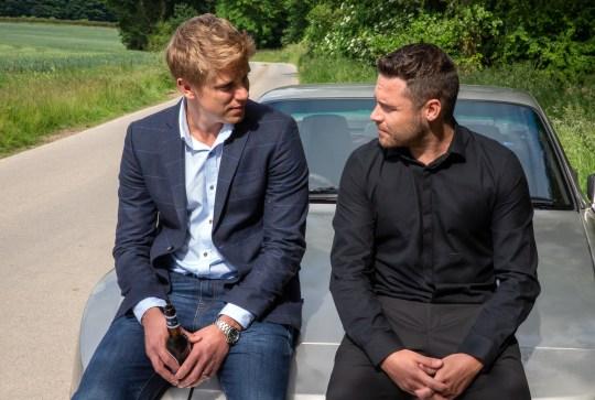 Robert and Aaron plan their wedding in Emmerdale