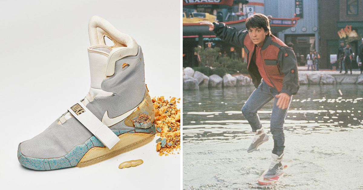 Michael J Fox's original Nike Air Mags from Back To The