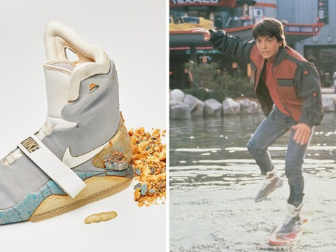 Michael J Fox's original Nike Air Mags from Back To The Future II sells for $100k