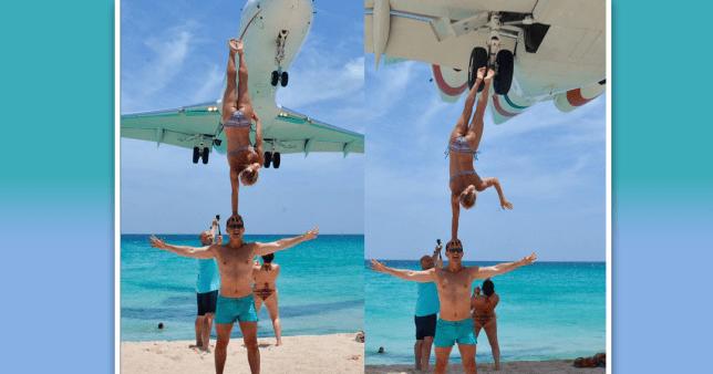 Picture: @oleg.kolisnichenko.5 Acrobatic couple dont care about dangerous plane stunt