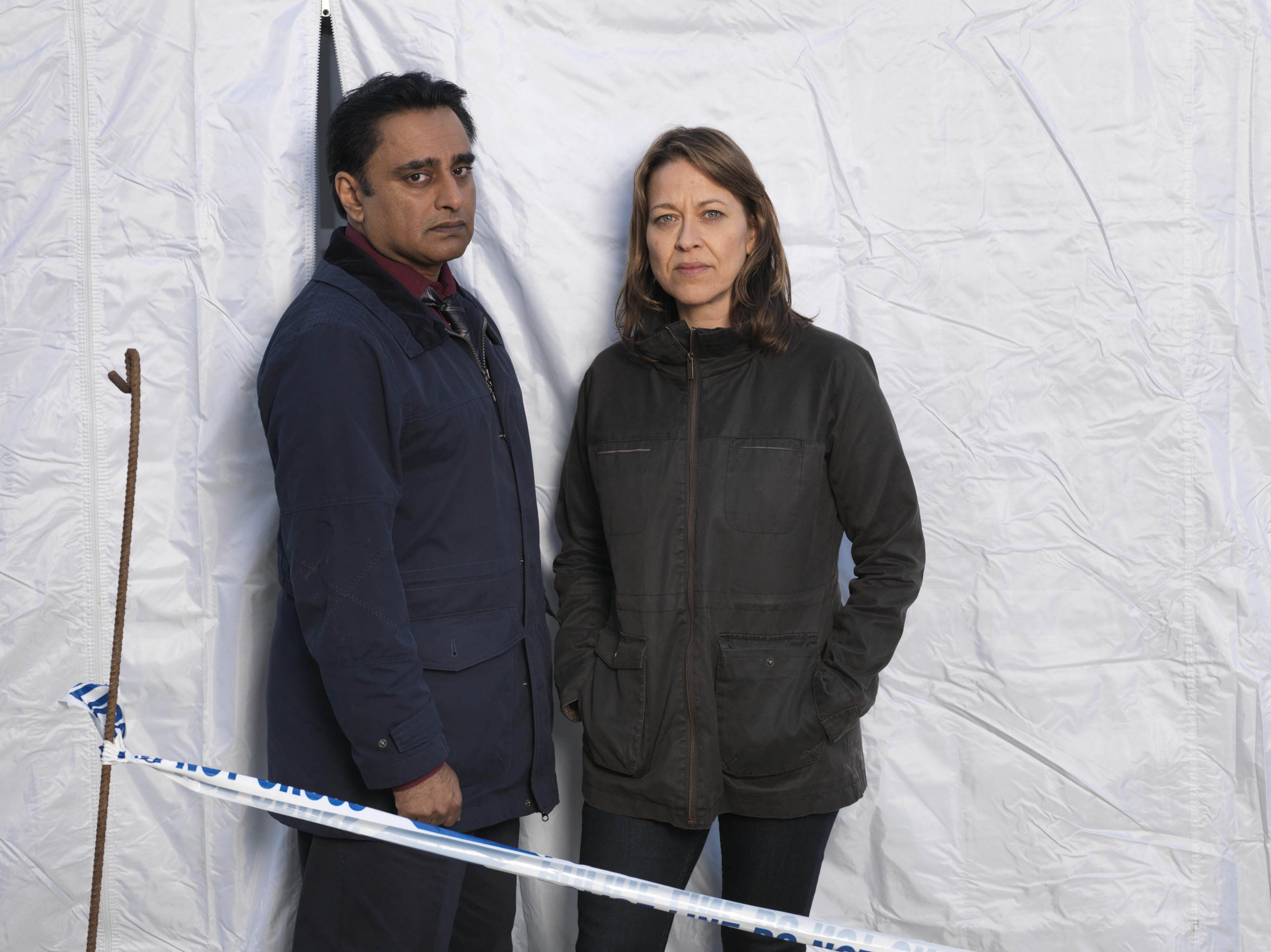 Television Programme: Unforgotten with Nicola Walker as DCI Cassie Stuart and Sanjeev Bhaskar as DS Sunil Khan MAINSTREET PICTURES FOR ITV UNFORGOTTEN EPISODE 6 Pictured : Nicola Walker as DCI Cassie Stuart and Sanjeev Bhaskar as DS Sunil Khan. Photographer: JOHN ROGERS This image is the copyright of ITV and must be credited. The images are for one use only and to be used in relation to UNFORGOTTEN, any further usage could incur a fee.