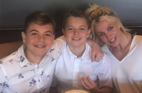 Britney Spears and sons Sean and Jayden